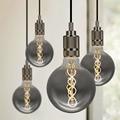 Лампа Эдисона TIANFAN, винтажный светодиодный светильник G125, спиральная лампа накаливания 4 Вт 2700 к 220 в E27, декоративный светильник, лампа с регу...