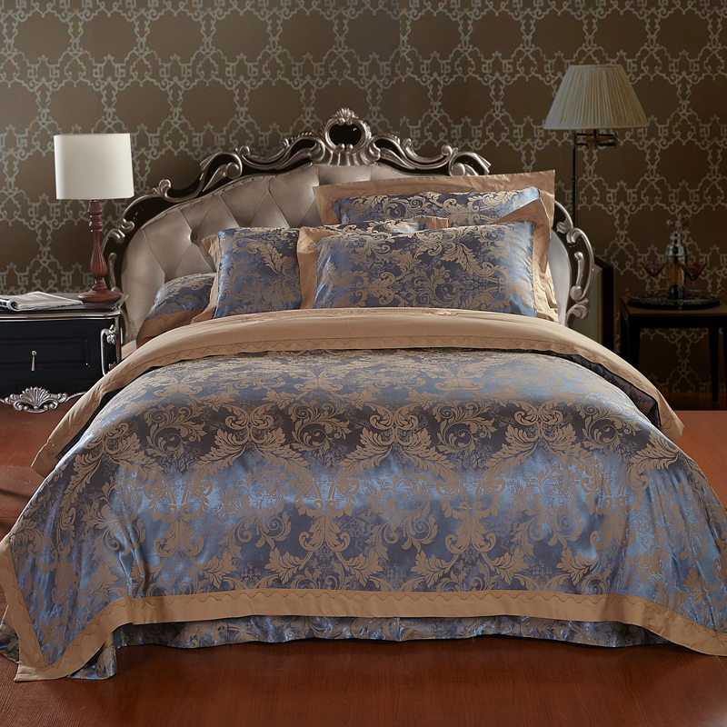 Brand Designs Noble Silk Embroidered Bedding Set King Size