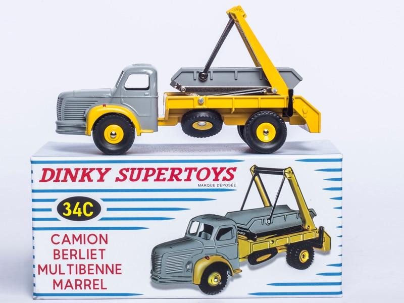 ATLAS DINKY SUPERTOYS TOYS 34C CAMION BERLIET MULTIBENNE MARREL 1/43 DIECAST CAR MODEL & Toys Model for Collection 1 43 dinky toys 587 camion camionnette citroen tub hy h philips atlas alloy diecast car model