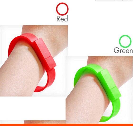 Colorful USB Flash Drive bracelet memory stick Hand wrist watch 4GB 8GB 16GB USB 2.0 Memory Drive Stick Pen/Thumb/Car S363
