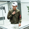 2016 New MA1 Bomber Jacket Men Good Quality Thin Army Green Military Male Air Force MA-1 Flight Jacket