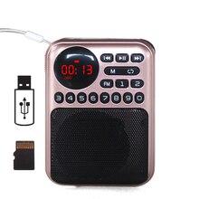 Перезаряжаемый портативный MP3 радио приемник fm радио с 18650 батареей поддержка USB флэш-диск TF карта MP3 плеер музыкальные файлы