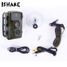 Cheaper ISHARE HD 1080P Hunting Trail Camera Photo Traps 12MP Night Vision Waterproof Digital Cameras Wild Animal Observation Recorder