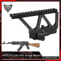 VMASZ CNC 6.75 Long Quick Detach QD AK Gun Side Rail Scope Mount Base Picatinny Side Rail Mounting for Airsoft AK 47 AK 74