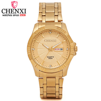 CHENXI Top Luxury Brand Men Watches Golden Elegant Male Clock Popular Wrist Watch Modern Casual Business