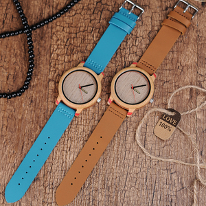 Image 5 - BOBO BIRD montres de luxe en bambou, pour hommes et femmes, bracelet à Quartz avec bracelet en cuir, coffret cadeau en bois