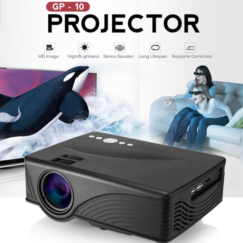 GP10 GP-10 Video <font><b>Projector</b></font> <font><b>Mini</b></font> Home Theater 2000 Lumens 1080P <font><b>HD</b></font> 3D Video Home Theater <font><b>Projector</b></font> PK GP9 GP-9 GP12 GP-12 image