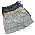 High-end men's pants knitted silk shorts 100% silk color