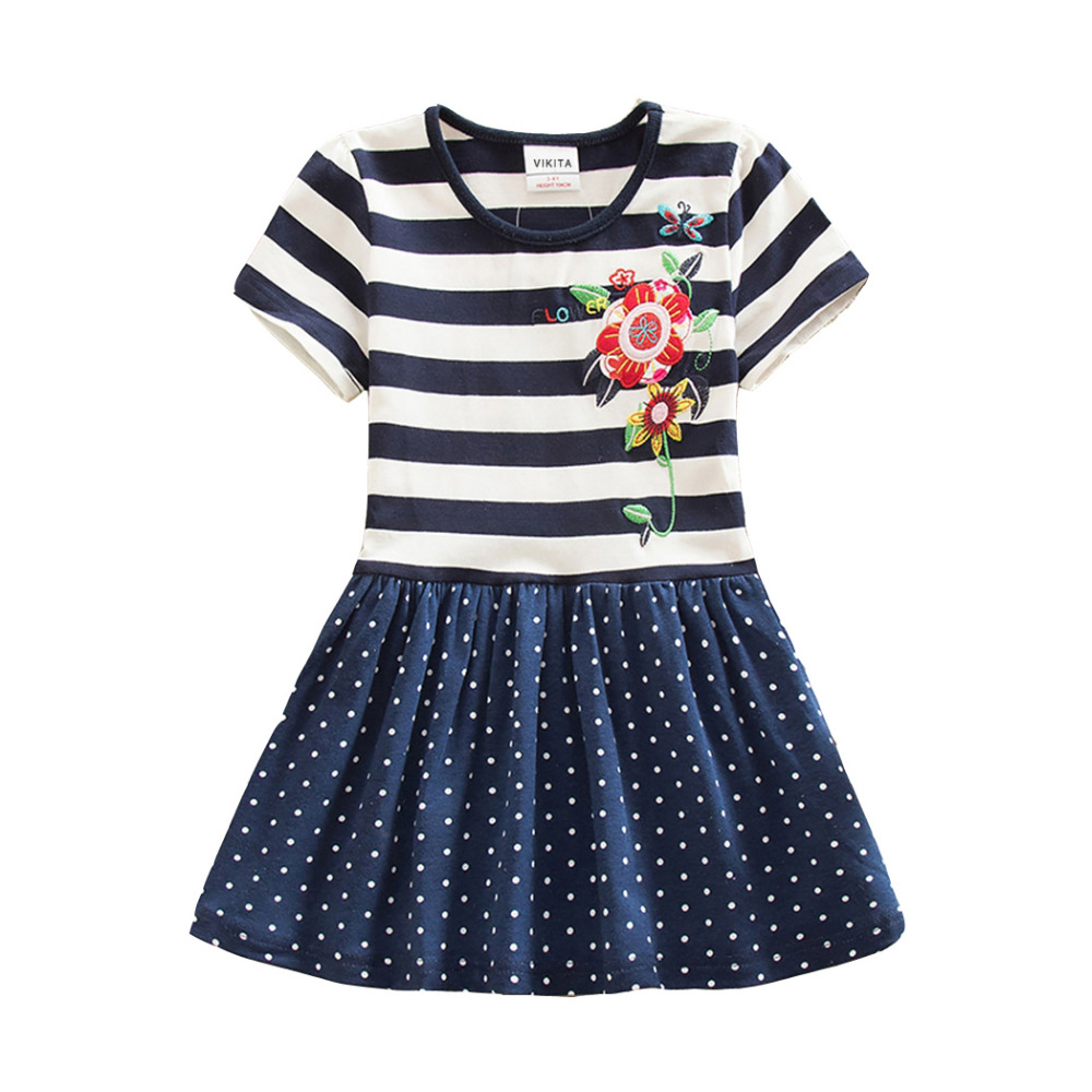 4-8Y Retail Dresses for Girls Baby Cartoon Children Tutu Dress Party Princess Flower Dresses Summer Dress Girl SH5908 Mix 4 8y retail dress for girls baby girl children tutu dresses princess party dresses vestidos kids girls clothes neat sh5460 mix