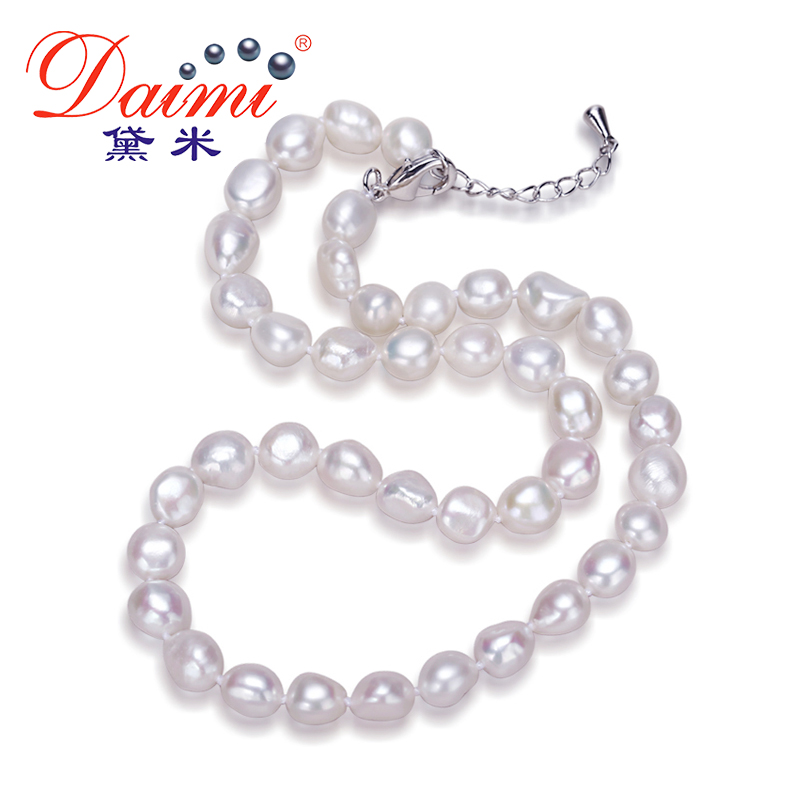 Daimi Genuine Baroque Pearl Necklace, Trendy Necklace For Woman, New Bijouterie Fine Jewelry 9 10 mm Pearl Choker Necklace-in Necklaces from Jewelry & Accessories on Aliexpress.com | Alibaba Group