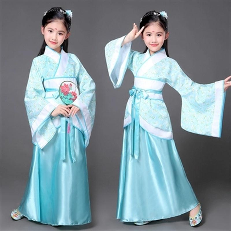 Children Costumes Han Chinese Clothing Princess Costumes Costumes Guzheng Performance Clothing Fairy Skirt Girls