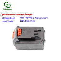 Golooloo 18v 3200mAh Lithium replacement rechargeable battery for Black Decker Li ion Power Tools Black & Decker LSW20 SSL20SB