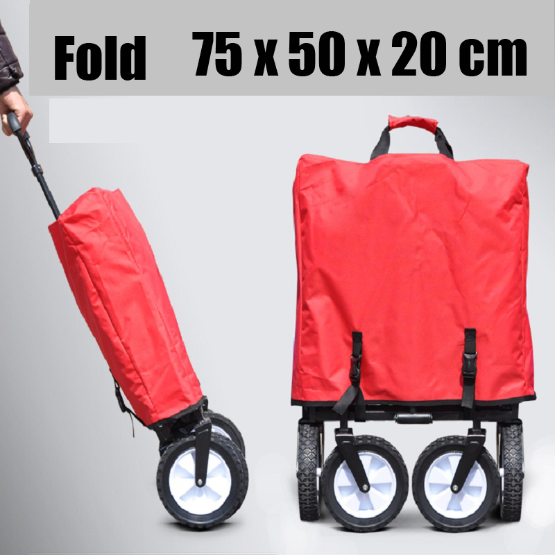 4 wheels outdoor camp cart, fold portable shopping cart, baby carriage with seat belt Karachi