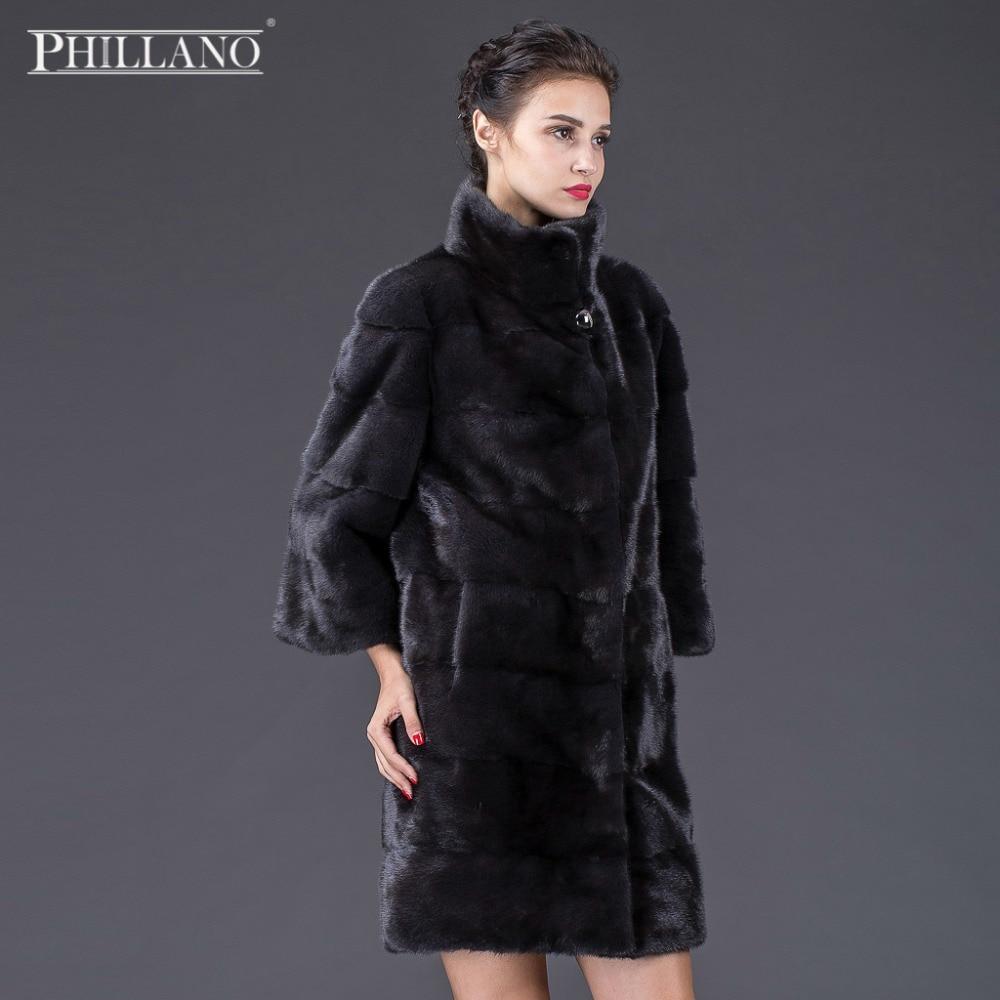 PHILLANO Nová dámská zimní bunda z pravé kožešiny dovezená Mink Skandinávie Dánsko NAFA Fashion Slim Fur YG11001-90