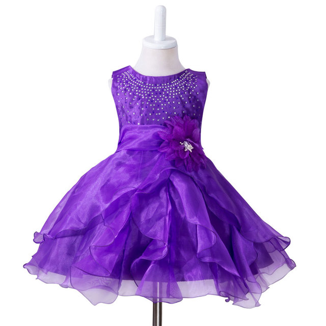 Girl Dress Summer High Quality Dance Dress Baby Girl Bridesmaid Wear Princess Dress Girls Clothes Kids Party Costume