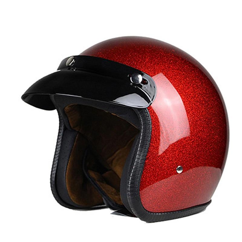 man women casco vintage scooter jet helmet motorcycle helmets pilot open face vespa helmet pare moto cascos para motocross