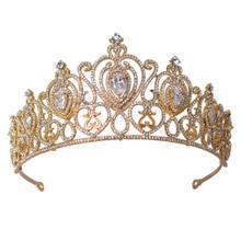 Folha Cubic Zirconia 18 K Banhado A Ouro de Casamento Nupcial Da Dama de Honra Meninas branco chapeado zircão coroa tiara/headb