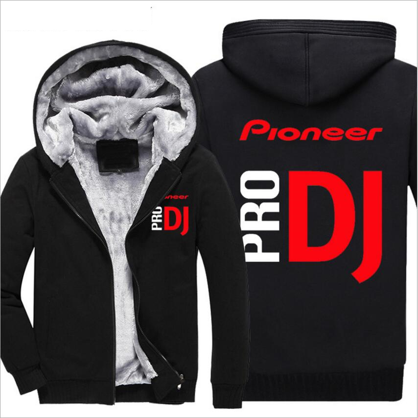 Streetwear Casual Mens Fleece Warm Hoodies Winter Outwear Thicken Jacket Men Zipper Hooded Hoody Tracksuit Male DJ Pioneer PRO