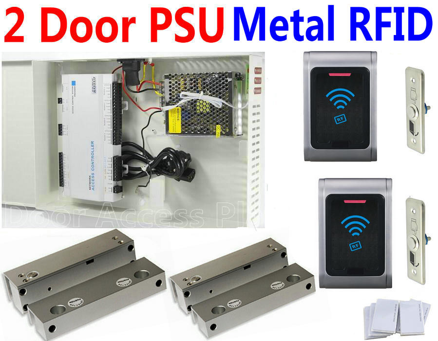 Access Control Access Control Kits Sunny Free Shipping 125khz Rfid 2 Doors Access Control Systems For 2-ways Access Control Panel Free Software+2 Reader