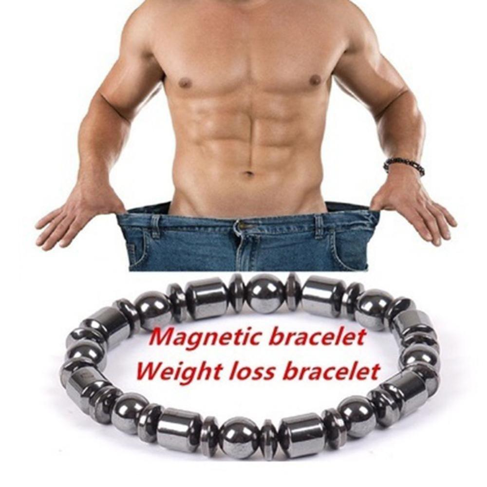 Slim Products Magnetic Bracelet Beads Black Stone Therapy Health