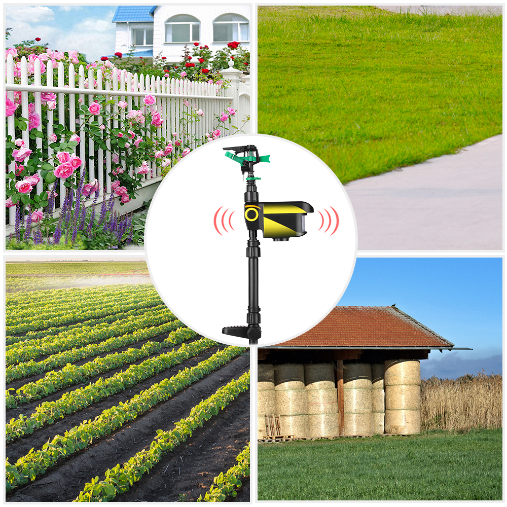 Image 2 - UPGRADED Solar powered Motion Activated Animal Repeller Garden Sprinkler Scarecrow,Animal Deterrent-in Repellents from Home & Garden