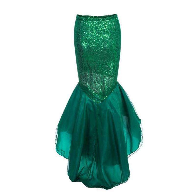 Elegant women ladies sequined mermaid tail skirt photography costume vestidos summer maxi skirt for halloween party x1