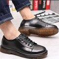 Más tamaño: 38-42 43 Primavera/Otoño con cordones masculinos Vendimia de bueyes Zapatos de moda Punta Redonda hombres de Partido/Bussiness Pisos Envío gratis