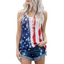 MUQGEW Одежда для беременных женщин без рукавов жилет патриотические полосы Звезда американский флаг печати майка hamile elbisesi# y3