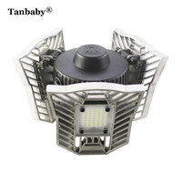 Tanbaby 60W E27 Led Deformable Lamp High Intensity 6000LM Radar Indoor Light LED Studio Garage Industrial