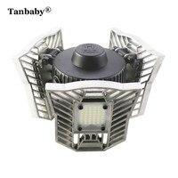 Tanbaby 60W E27 Led Deformable Lamp High Intensity 6000LM Radar Indoor Light LED Studio Garage Industrial Warehouse Mining Lamp