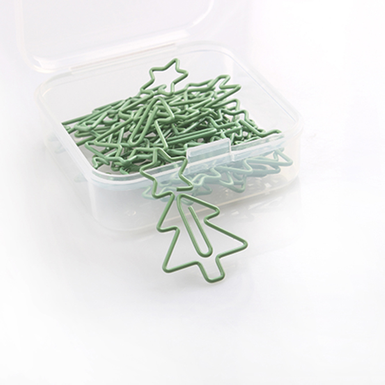 Star On Christmas Tree Shaped Paper Clips Creative Planner Clips Paperclips Paper Clips Decorative Paperclip Stationery Clips