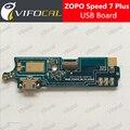 Zopo velocidad 7 plus placa usb 100% original nuevo reemplazo fpc accesorios para 5.5 pulgadas del teléfono móvil de carga de envío gratis