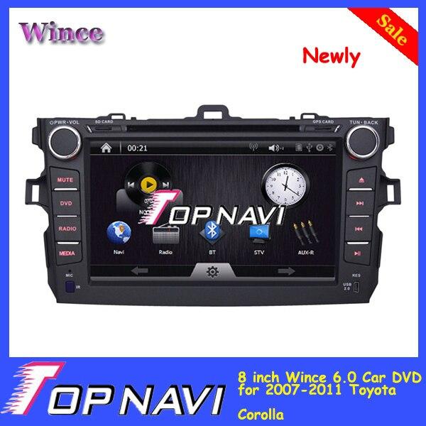 Недавно 8 дюймов Win CE 6.0 Специальный Автомобиль DVD для Toyota Corolla 2007-2011 Автомобильный GPS Аудио Радио