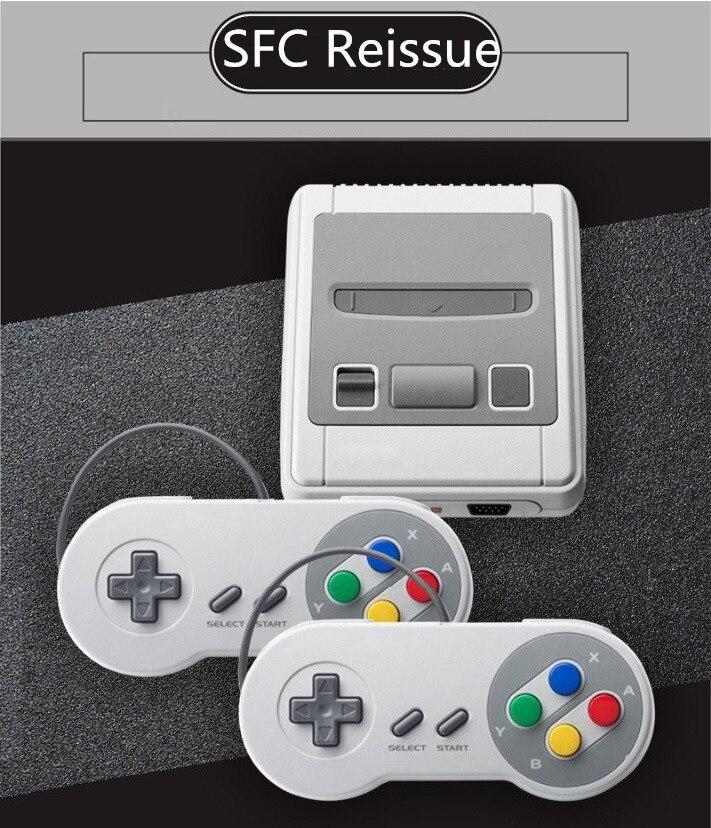 Pour SFCS-01 version US mini console de jeu HDMI HD rouge et blanc machine double jeu intégré 621 jeux