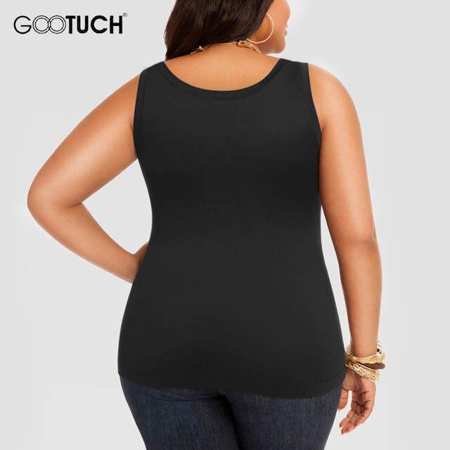 118971b66c712 Womens Cotton Tank Tops Plus Size 4XL 5XL 6XL Women s Sleeveless T Shirt Large  Size Undershirt