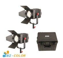 2 Pcs CAME TV Boltzen 100w Fresnel Fanless Fokussierbare LED Bi Farbe Kit Led video licht
