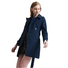 Spring and Autumn office lady temperament slim thin trench double-breasted womens fashion windbreaker EF1118