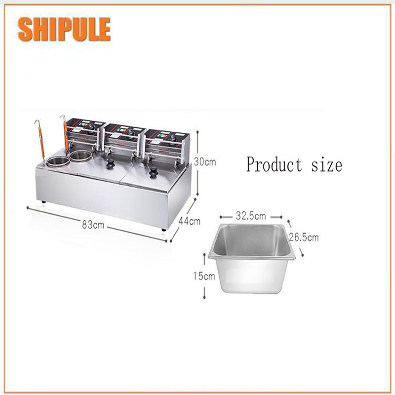 three - cylinder thickened frying furnace stainless The electric fryer guan dong boiling machinethree - cylinder thickened frying furnace stainless The electric fryer guan dong boiling machine