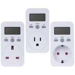 EU US UK Plug Digital Power Meter Watt Electricity Usage Monitor Socket Consumption Meter Electric Monitor Power Energy Socket