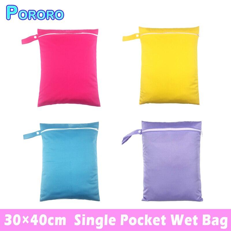 647b23d65 Pororo30   40 cm bolsas mojadas bebé reutilizable impermeable bolsillo  bolsas de pañales pañal maternidad bolsa sólida de Color bolsa