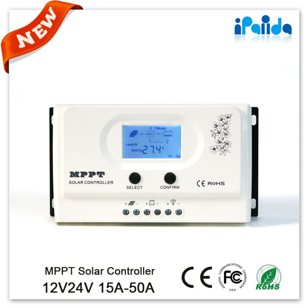 High quality newest 15a regulator solar charge controller MPPT 15A MPPT 12V 24V auto work high quality 12v 24v 48v auto 60a mppt solar charge controller