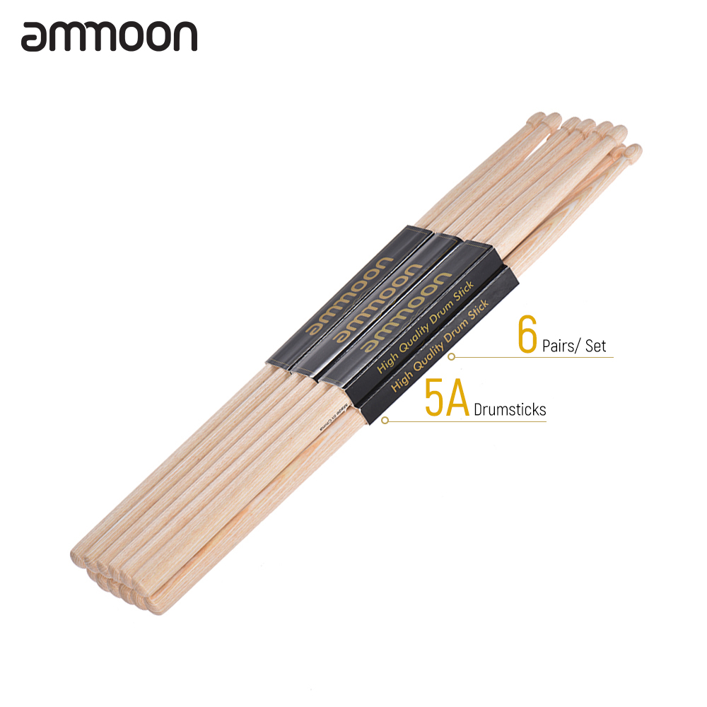 high quality ammoon 5a 7a wooden drumsticks drum sticks maple wood drum set percussion. Black Bedroom Furniture Sets. Home Design Ideas