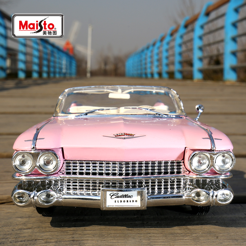 Maisto 1959 Cadillac ELDORADO BIARRITZ 1:18 Scale Alloy Model  Metal Diecast Car Toys High Quality Collection Kids Toys Gift  недорого