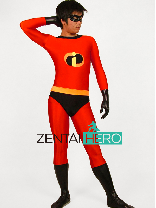 Free Shipping DHL The Incredibles Zentai Lycra Mr. Incredible Suit for 2016 Halloween and Cosplay Party MI1427