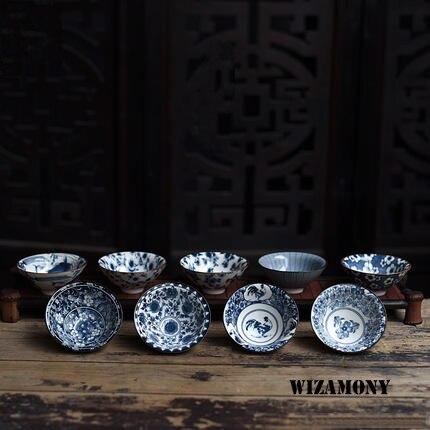 Traditional White Blue Tea Porcelain Cups 2