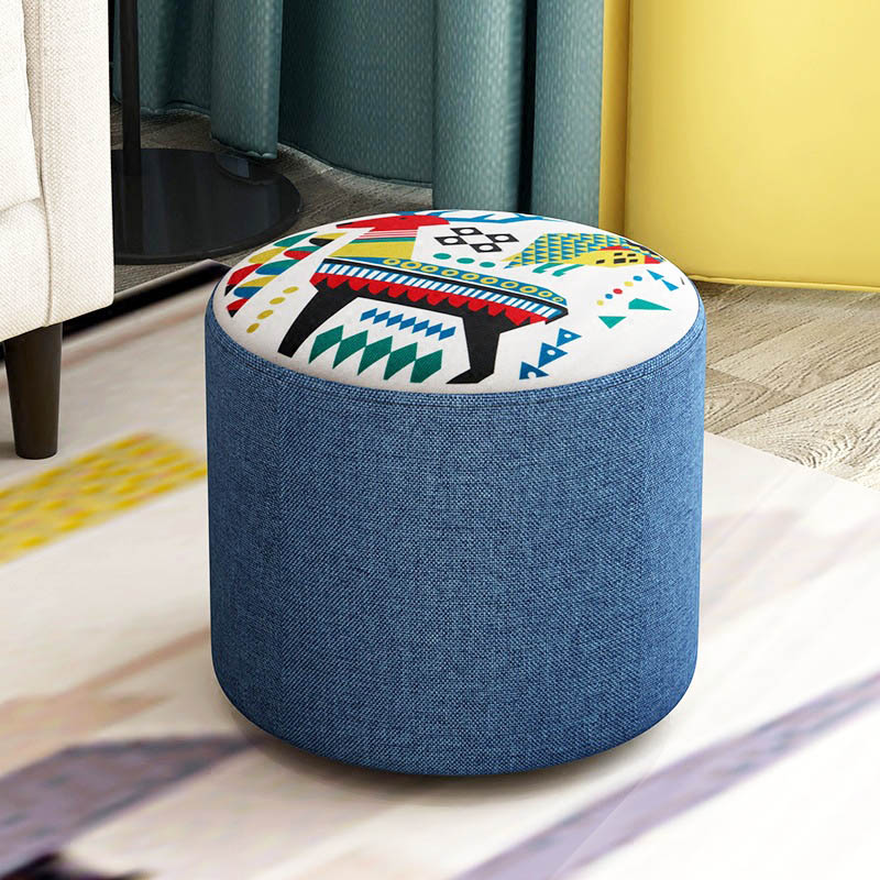 Fashion sofa stool Creative solid wood stool Living room multifunctional low stool Household Suede Sitting stool Home Furniture sufeile children s solid wood stool creative fabric sofa low chair creative fashion for shoe stool home decoration chair d50