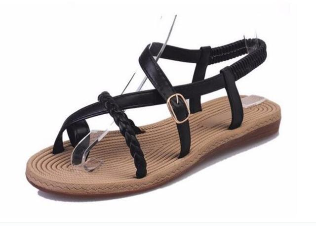 POADISFOO 2017 summer Classical sandals female Cross fashion thin with Roman  flat sandals toe sandals shoes For Women .HYKL-201