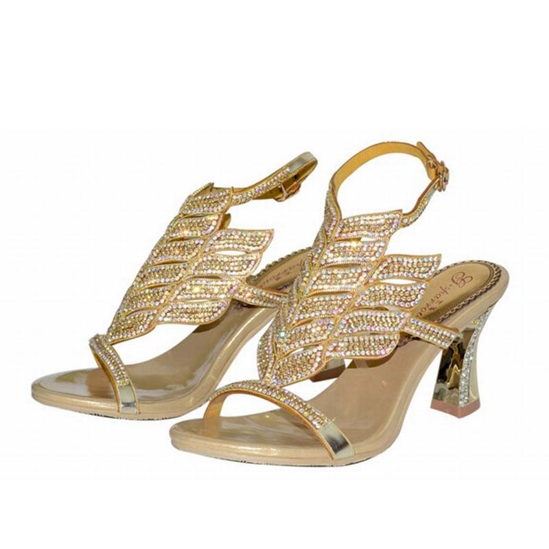 size 34 44 women sexy thick high heels gladiator open toe sandals  rhinestone crystal summer bling bling ladies shoes comfortable-in Women s  Sandals from ... a0481a366598
