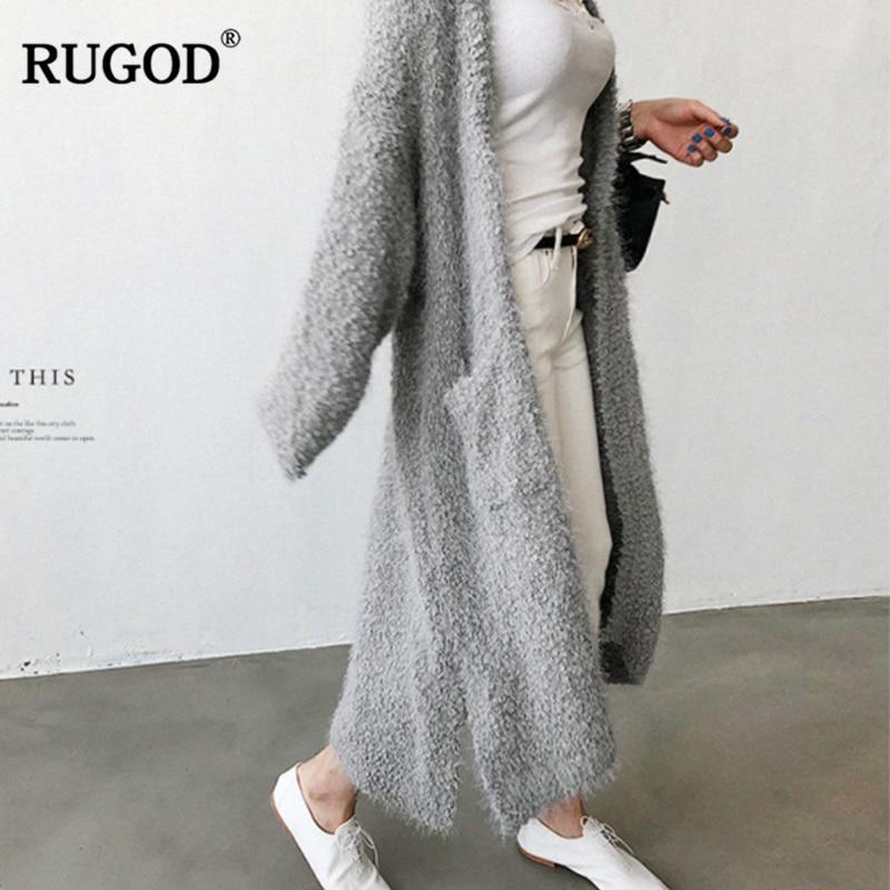 pink Salvaje Cárdigan Tejido Blue Felpa 2018 Largo Con Mujer Suéter Chaqueta  Otoño Moda gray Bolsillos Outwear Rugod De qxTtvww 26ac14c1d988