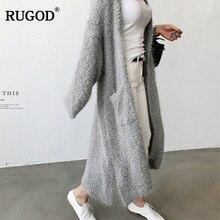 RUGOD 秋とファッション豪華なニットカーディガンポケット野生のカーディガンのセーターのコートカーディガンセーター女性生き抜く 2019